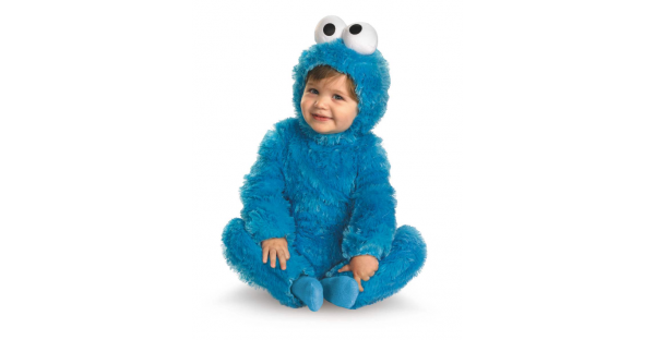 Fantasia de monstro de biscoito de bebê  Vila Sésamo – Baby Cookie Monster Costume Sesame Street