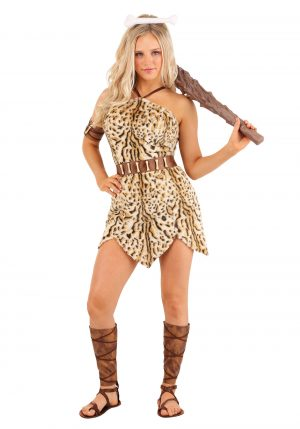 Fantasia de mulher das cavernas ousada para mulheres- Bold Cavewoman Costume for Women
