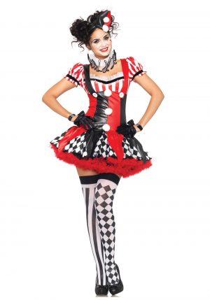Fantasia de palhaço arlequim impertinente – Naughty Harlequin Clown Costume