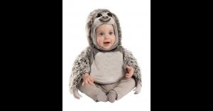Fantasia de preguiça de pele falsa de bebê – Baby Faux Fur Sloth Costume