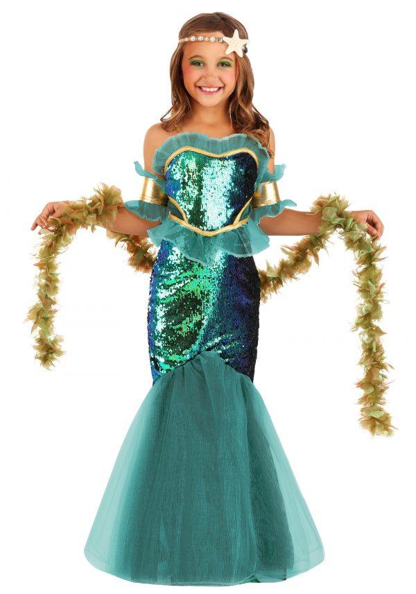 Fantasia de sereia do mar para meninas – Sea Siren Costume for Girls