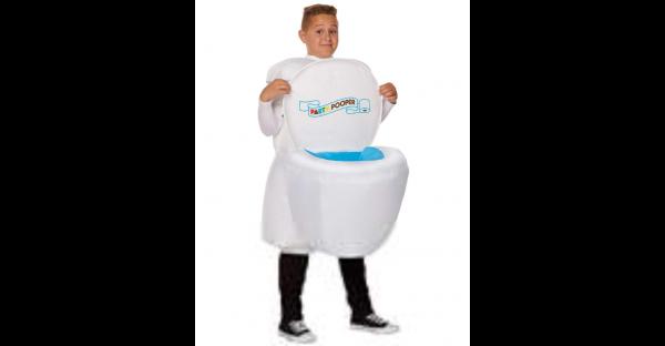 Fantasia de toalete inflável infantil com som – Kids Inflatable Toilet Costume with Sound