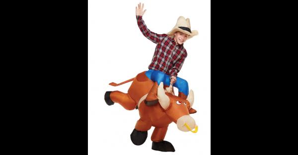 Fantasia de toureiro inflável –  Kids Inflatable Ride On Bull Costume