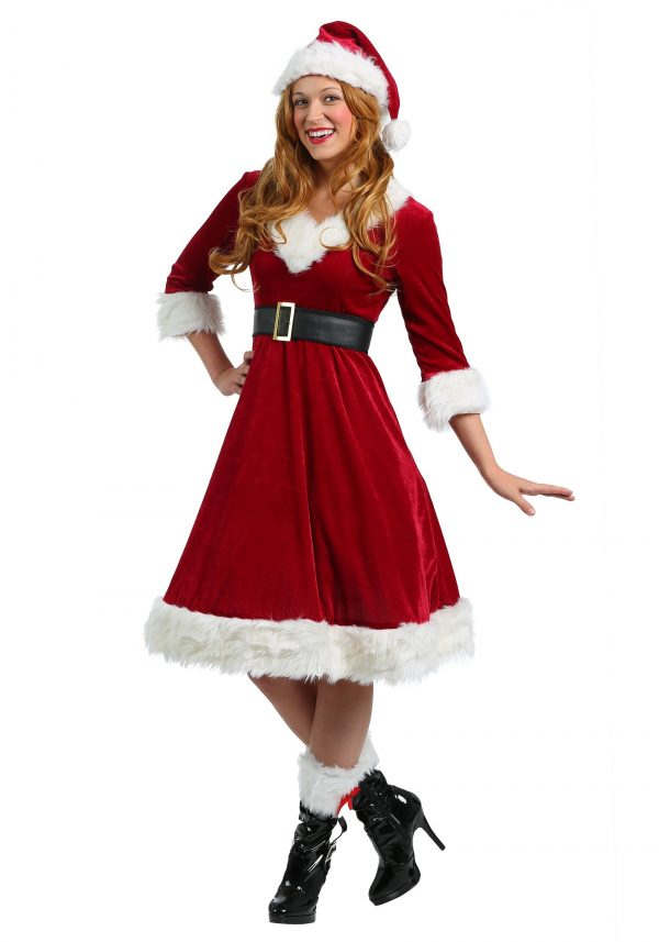 Fantasia feminina de Mamãe Noel -Womens Santa Claus Sweetie Costume