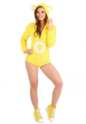 Fantasia feminina de macacão Ursinho Sol – Funshine Bear Romper Women's Costume