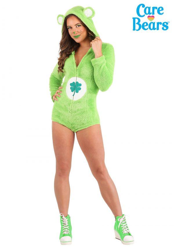 Fantasia feminino do macacão Ursinhos Carinhosos Boa Sorte – Good Luck Bear Romper Women's Costume