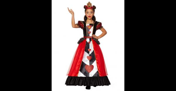 Fantasia infantil de Rainha de Copas – Kids Queen of Hearts Costume