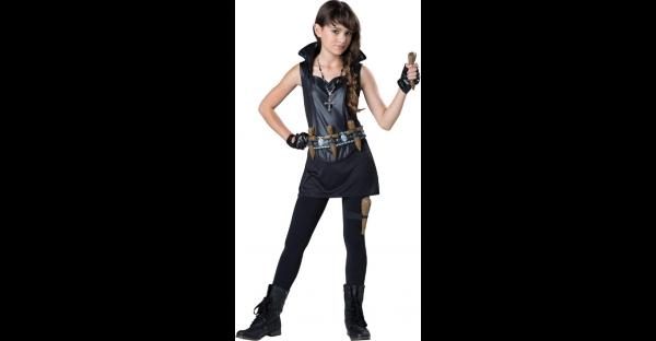Fantasia infantil de caçadora de vampiros – Kids Vampire Slayer Costume