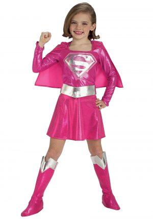 Fantasia infantil rosa supergirl – Child Pink Supergirl Costume