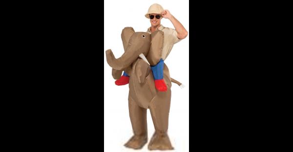 Fantasia inflável de elefante para adultos – Adult Ride Elephant Inflatable Costume