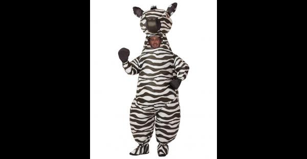 Fantasia inflável de zebra para adultos – Adult Zebra Inflatable Costume