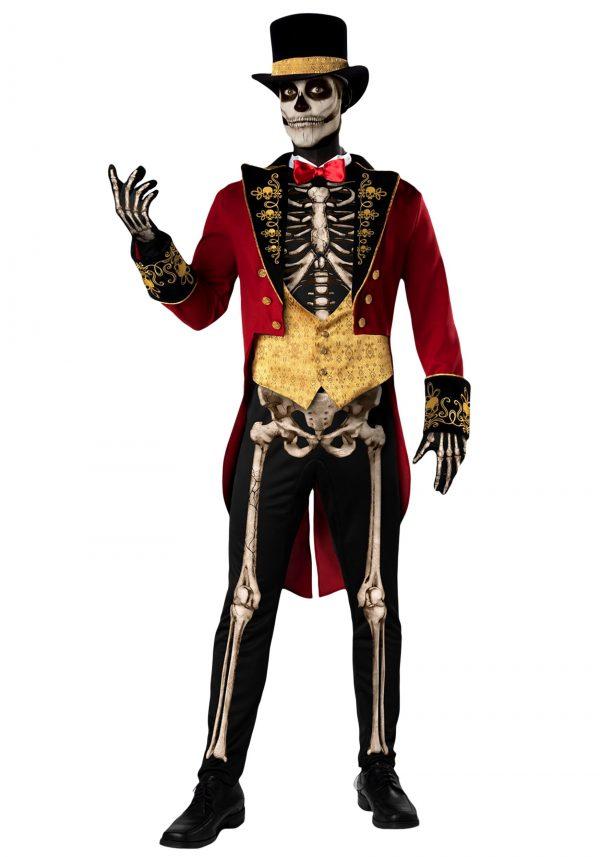 Fantasia masculino de esqueleto de ringmaster – Men's Skeleton Ringmaster Costume