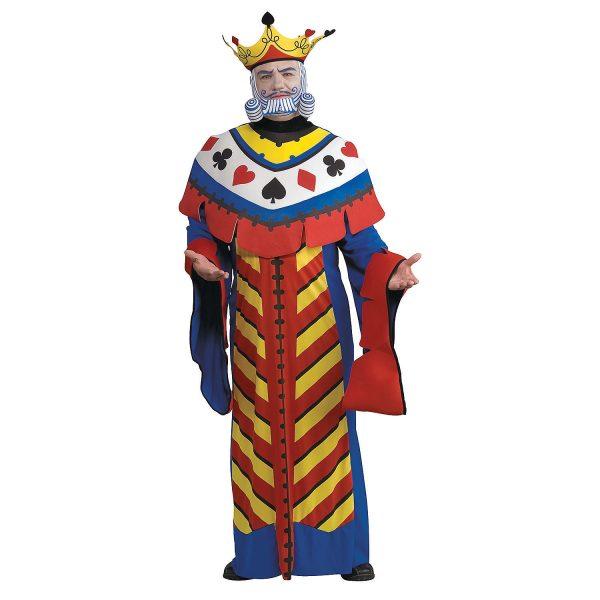Fantasia masculino do rei das cartas – Men's Playing Card King Costume