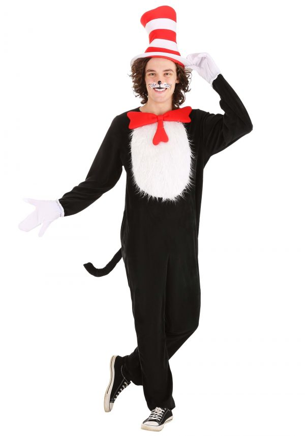 Fantasia para Adultos Dr. Seuss Gato no Chapéu – Dr. Seuss Cat in the Hat Adult Costume