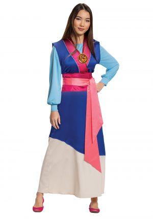 Fantasia vestido azul feminino Mulan – Women's Mulan Blue Dress Costume