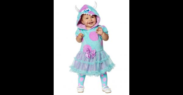Fantasia  vestido de bebê Sulley Monstros Inc. -Baby Sulley Dress Costume  Monsters Inc.