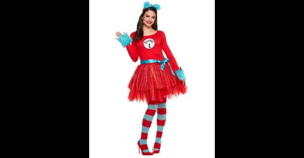 Fantasia  vestido de tutu para adulto Dr. Seuss – Adult Thing Tutu Dress Costume Dr. Seuss