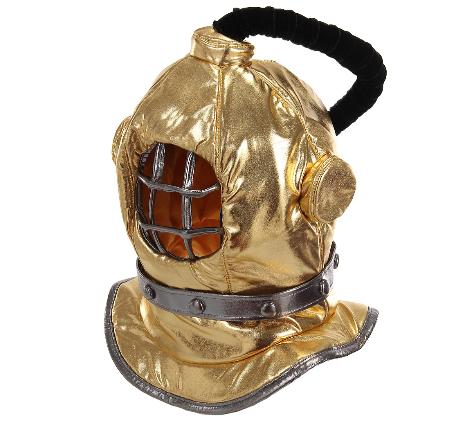 Máscara de capacete de mergulho – Plush Diving Bell Helmet Mask