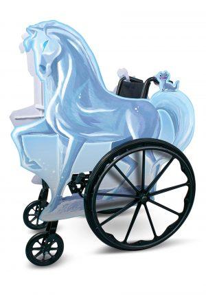 capa adaptável Frozen Ice Nokk para cadeira de rodas – Adaptive Frozen Ice Nokk Wheelchair Cover Costume