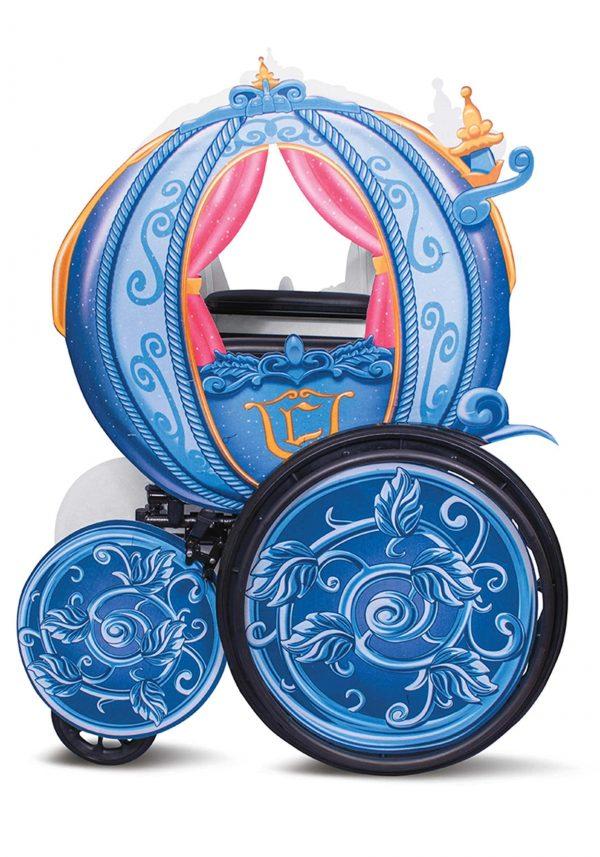 capa adaptável para cadeira de rodas de Cinderela Disney -Cinderella Disney Princess Carriage Adaptive Wheelchair Cover Costume