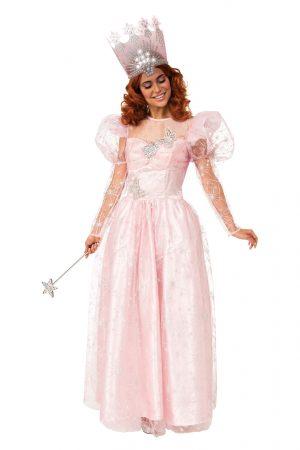 fantasia de luxo feminino Glinda,a bruxa boa – Glinda the Good Witch Deluxe Costume for Women