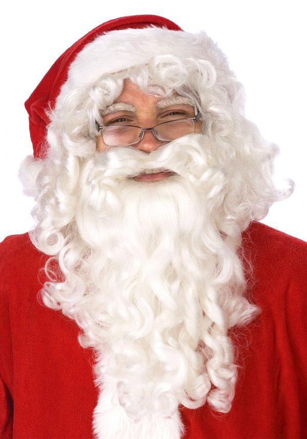 Conjunto de peruca e barba de Papai Noel adulto – Adult Santa Claus Wig and Beard Set