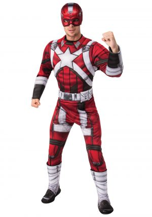 Fantasia Deluxe Red Guardian para homens – Red Guardian Deluxe Costume for Men