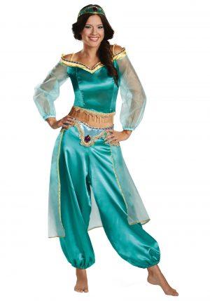 Fantasia de Jasmim  Aladdin para mulheres – Aladdin Animated Jasmine Prestige Costume for Women