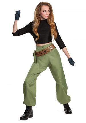 Fantasia de Kim Possible feminino – Disney Kim Possible Animated Series Women's Kim Possible Costume
