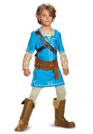 Fantasia de Lenda de Zelda Breath of the Wild Deluxe Link Boys – Legend of Zelda Breath of the Wild Deluxe Link Boys Costume