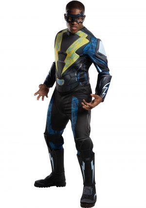 Fantasia de Luxo Masculino Raio Negro – Black Lightning Adult Deluxe Costume