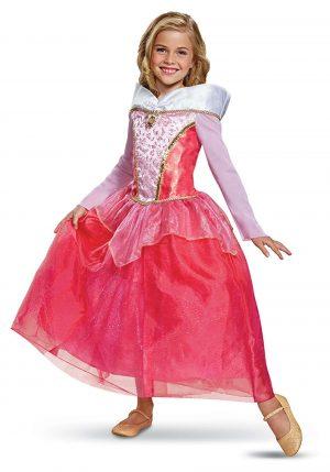 Fantasia de luxo Aurora da Bela Adormecida para meninas – Sleeping Beauty Aurora Deluxe Costume for Girls