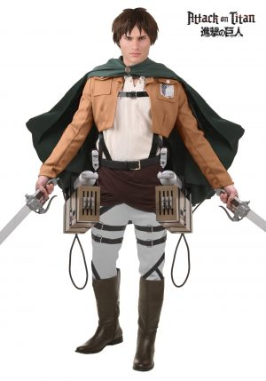 Fantasia de luxo de ataque de Eren Jaeger ao Titan- Eren Jaeger Attack on Titan Deluxe Costume