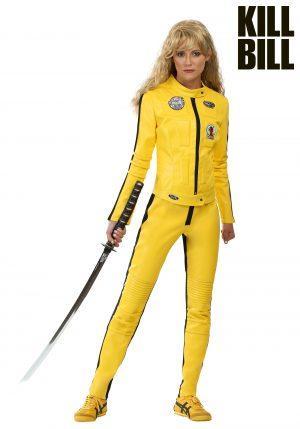 Fantasia de macacão feminino Beatrix Kiddo de Kill Bill – Kill Bill Women's Beatrix Kiddo Motorcycle Suit Costume