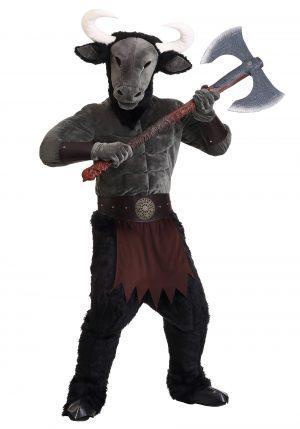 Fantasia de minotauro ameaçador masculino – Men's Menacing Minotaur Costume
