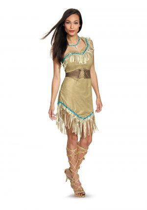 Fantasia feminina Pocahontas Deluxe – Womens Deluxe Pocahontas Costume