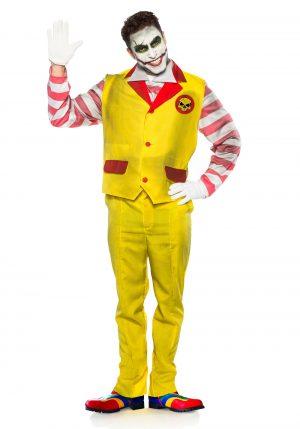 Fantasia masculina de palhaço de fast food malvado – Evil Fast Food Clown Men's Costume