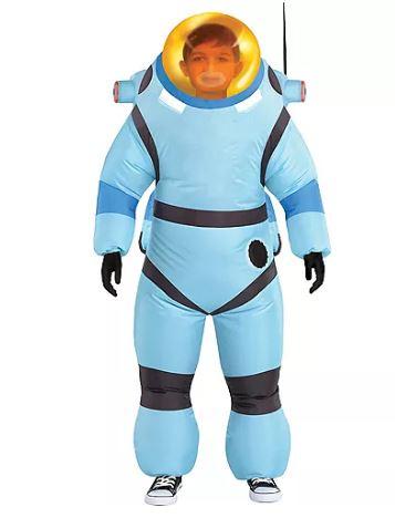 Fantasia infantil inflável Astronauta -Child Inflatable Bubble Suit Costume  Astroneer