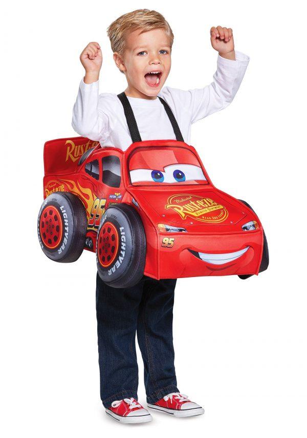 Fantasia Carros Relâmpago McQueen 3D para Crianças – Cars Lightning McQueen 3D Costume for Toddlers