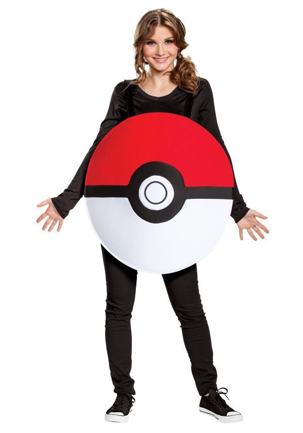 Fantasia Clássico Pokémon Pokébola Adulto – Pokemon Adult Pokeball Classic Costume