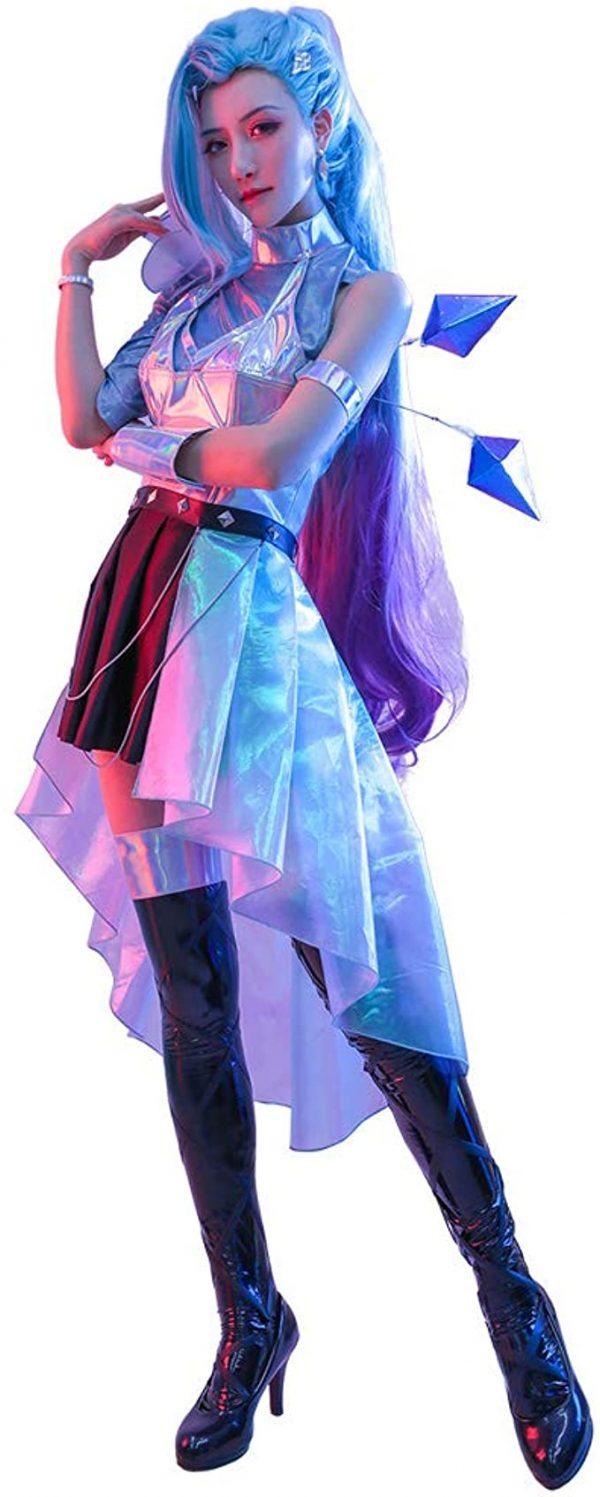 Fantasia Cosplay feminino de couro serafim MicCostumes – Women's Seraph Leather Cosplay Costume MicCostumes