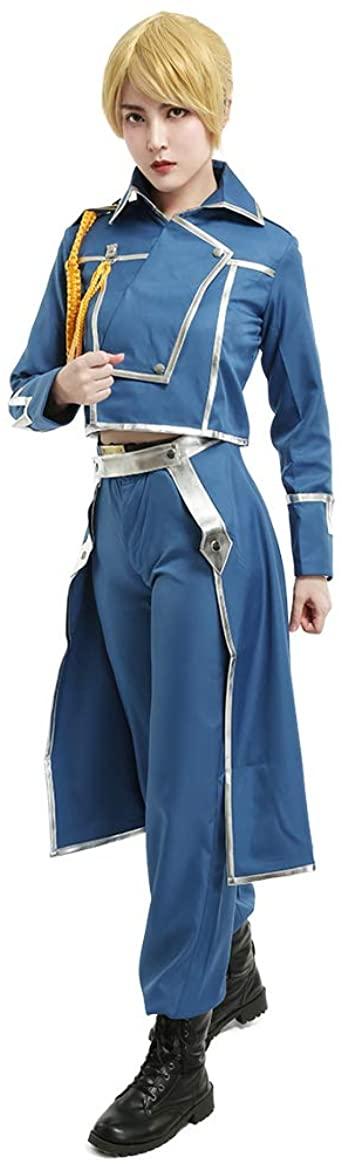 Fantasia Cosplay militar Miccostumes Mulher Fullmetal Alchemist Riza Hawkeye  – Military Cosplay Costume Miccostumes Women Fullmetal Alchemist Riza Hawkeye