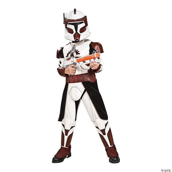 Fantasia Deluxe Star Wars Clone Wars Comandante Fox – Boy's Deluxe Star Wars Clone Wars Commander Fox Costume