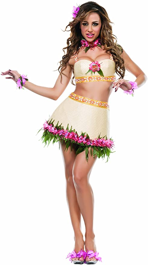 Fantasia Feminina Dança Tiki Havaiana – Hawaiian Tiki Dance Women