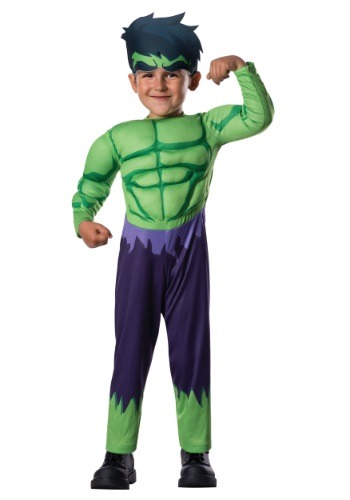 Fantasia Hulk Deluxe para Crianças – Toddler Deluxe Hulk Costume