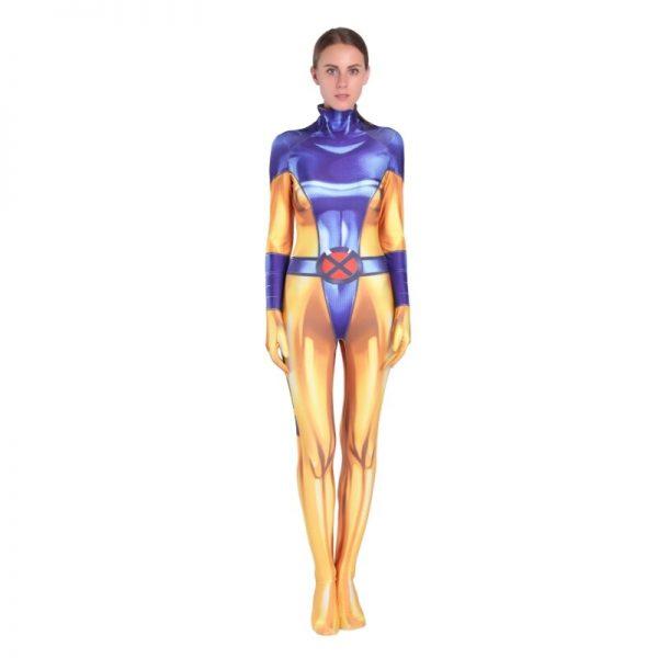 Fantasia Jean Grey  X-Men macacão de lycra – Cosplay Life Superhero Jean Grey Cosplay Costume Lycra Bodysuit Zentasuit