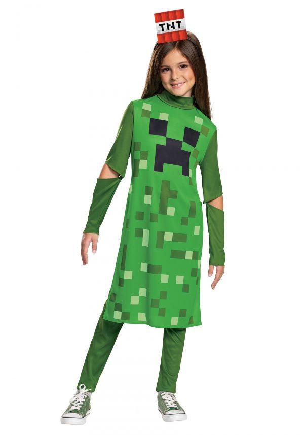 Fantasia Minecraft menina Creeper – Minecraft Girls Creeper Classic Costume
