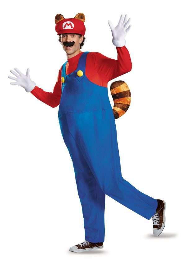 Fantasia adulto de luxo Mario Raccoon – Adult Deluxe Mario Raccoon Costume