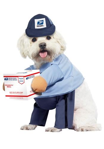 Fantasia da transportadora USPS para cachorro – USPS Dog Mail Carrier Costume