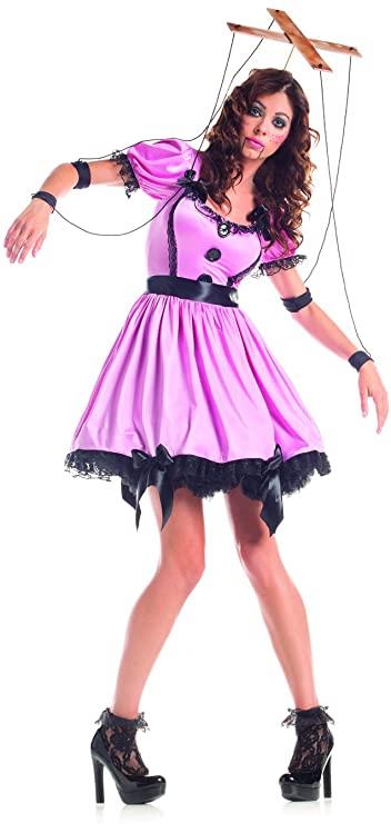 Fantasia de Boneca de fantoche para mulheres – Puppet Doll Costume for Women